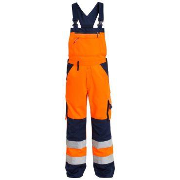 Safety EN ISO 20471 Latzhose mit seitlichem Stretchkeil KL 2 F. Engel