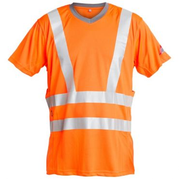 Safety EN ISO 20471 T- Shirt mit Stretchreflexstreifen F. Engel