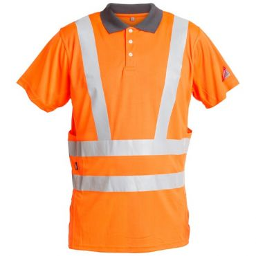 Safety EN ISO 20471 Poloshirt mit Stretchreflexstreifen F. Engel