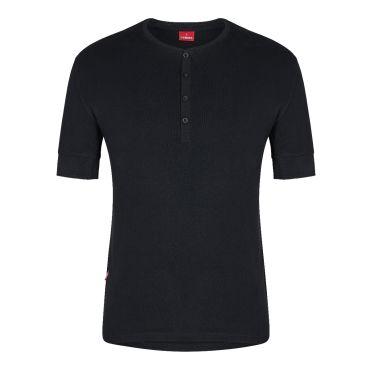 Standard Baumwolle Grandad kurzarm Shirt F. Engel